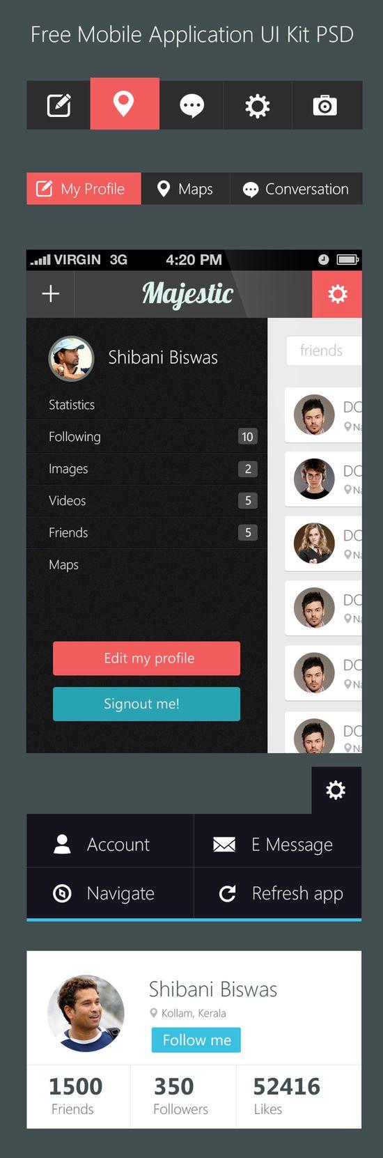 Free Mobile Application UI Kit