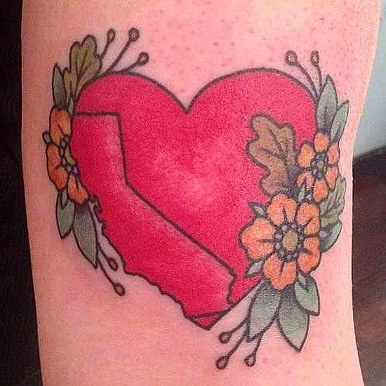 California tattoo, by Kapten Hanna of Idle Hand Tattoo in San Francisco. – Imgur