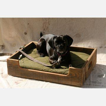 Reclaimed Barn Board Pet Divan; Salvage Design Company