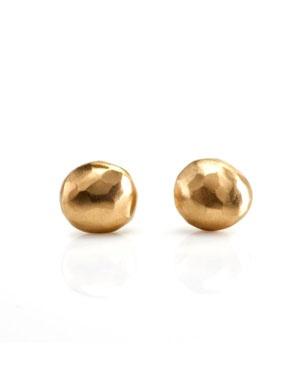 Satomi Kawakita gold half round earrings