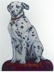 DALMATION DOOR STOP Dalmation Dog Home Garden Decor E