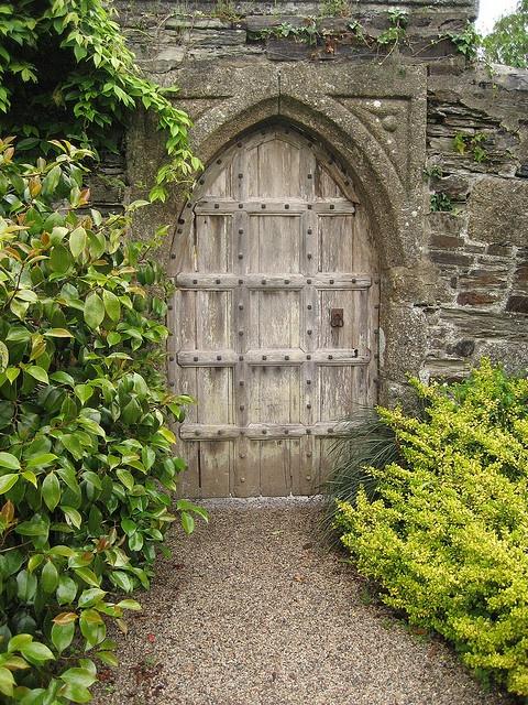 Lanhydrok garden gate, England