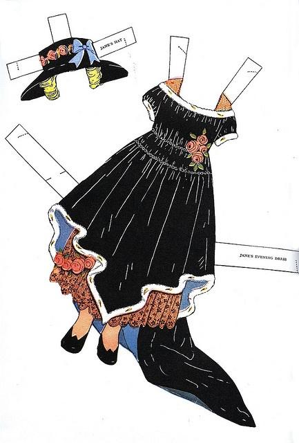 vintage paper doll dress