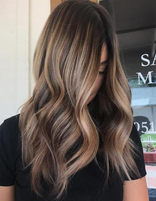 Blonde strähnchen bei braunen haaren