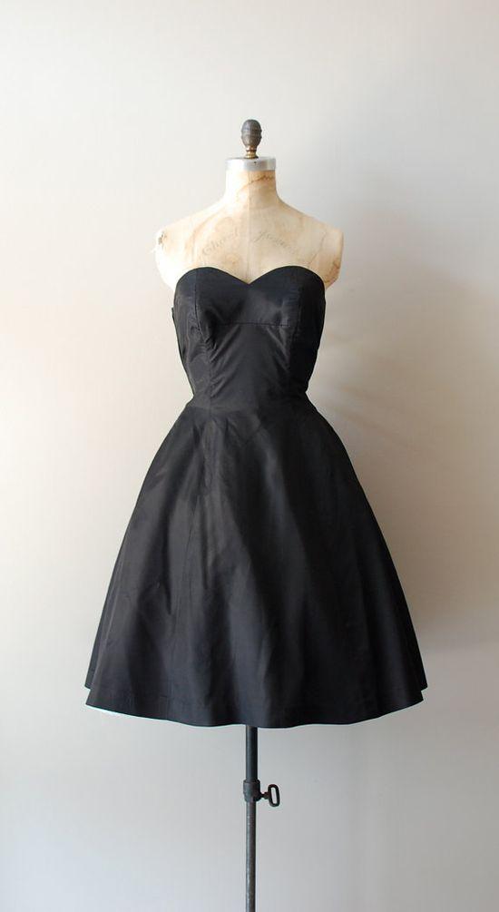 vintage 1950s La Nuit dress    #vintagedress