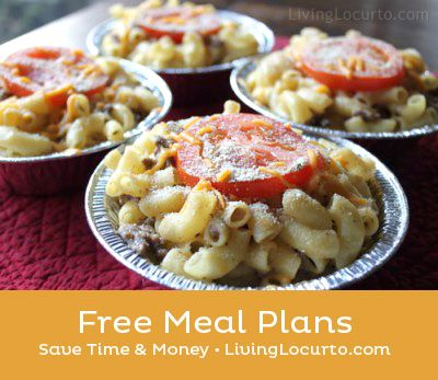 FREE weekly meal plans in PDF format on Living Locurto. Delegate your meal planning to someone else!