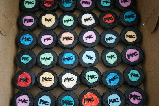 Mini MAC cupcakes! so funny