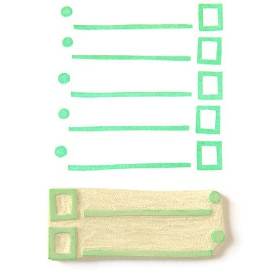 List Lover's List Maker Stamp - Rubber Stamp - Cling Rubber Stamp