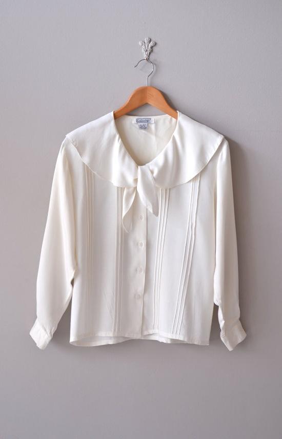 vintage Pintucked Sailor blouse