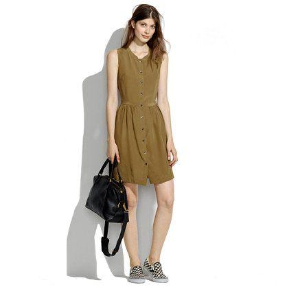 Madewell - Sleeveless Silk Shirtdress