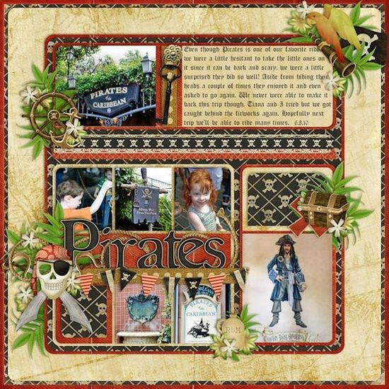 Pirates scrapbook layout