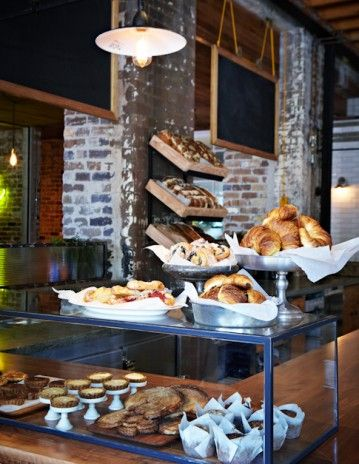 Displaying the breads and bakery    that is a nice way to display  --?