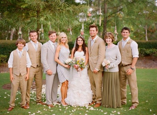 neutral wedding ideas wedding party