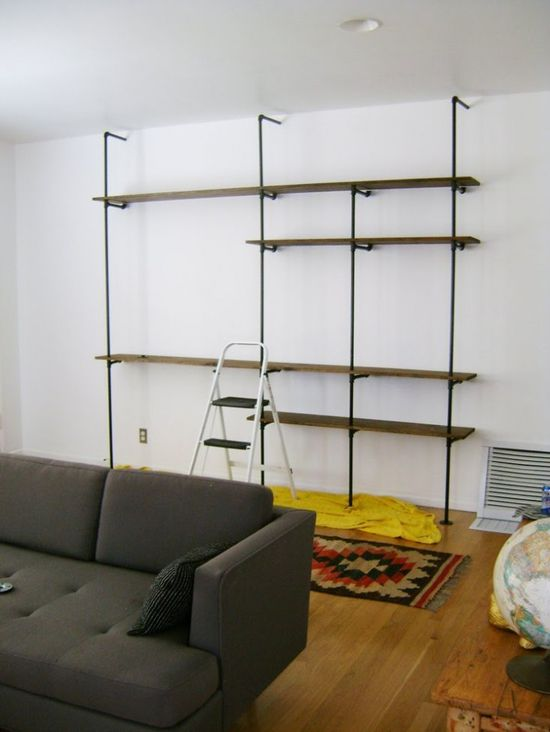 Industrial pipe shelving unit - Yes!