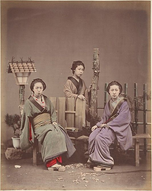 [Japanese Women in Traditional Dress]