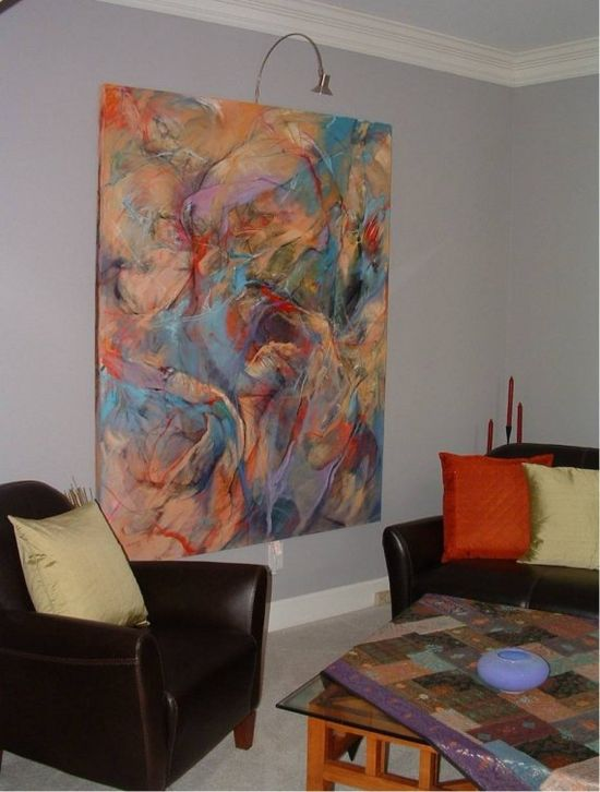 Very Large Original Abstract Painting Wall Size  by Krystyna81, $10000.00