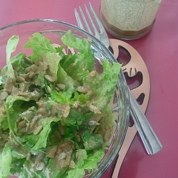 Asian Peanut Sesame Salad Dressing by Belachan