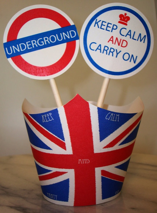 Union Jack Cupcake Toppers