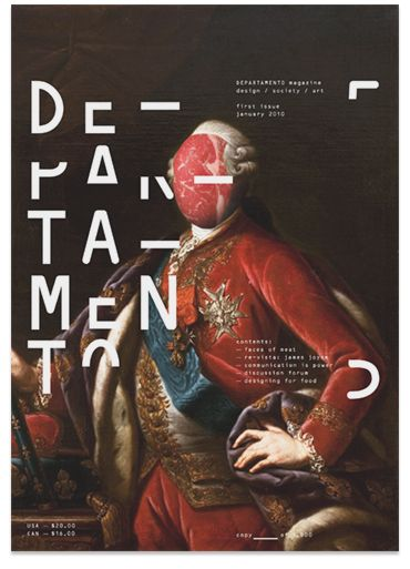 departamento magazine, use of typography