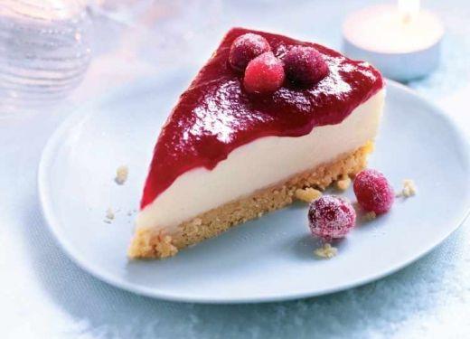 Christmas Cranberry Cheesecake Recipe : Cook Vegetarian Magazine