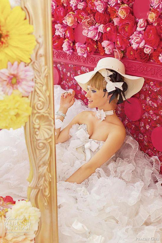 romantic wedding dresses peachy girl