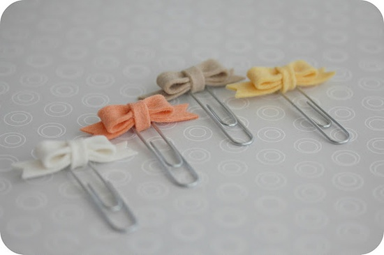 Felt Bow Paperclip Bookmarks
