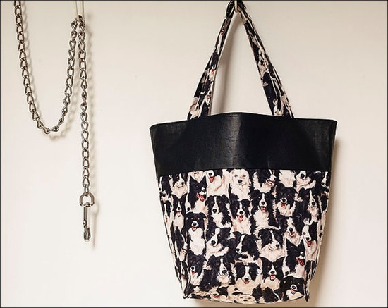 Border Collie animal print tote bag by CrystalMoonCat on Etsy, $29.00