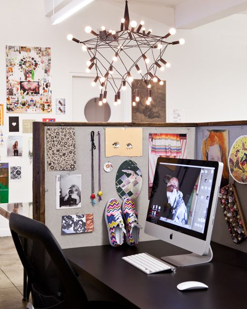 artful cubicle (at refinery29 office)