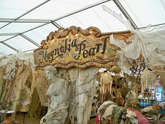 Magnolia Pearls Tent at Warrenton Antique Show in Tx