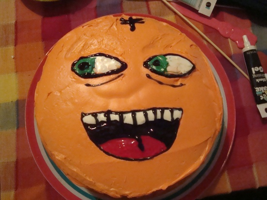 Zoe's Annoying Orange birthday cake