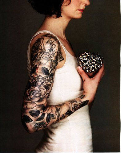 Black and grey sleeve.