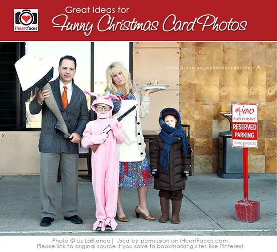 Funny Ideas for Christmas Card Photos via iHeartFaces.com