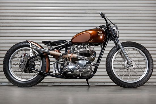 Meet 'Bad News': the coolest Triumph TR6R Trophy custom motorcycle we've ever seen.