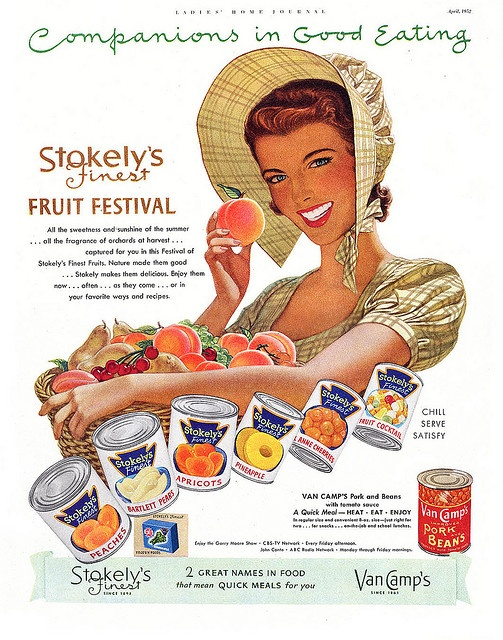 All the sweetness and sunshine of the summer. #vintage #1950s #fruit #food #ad