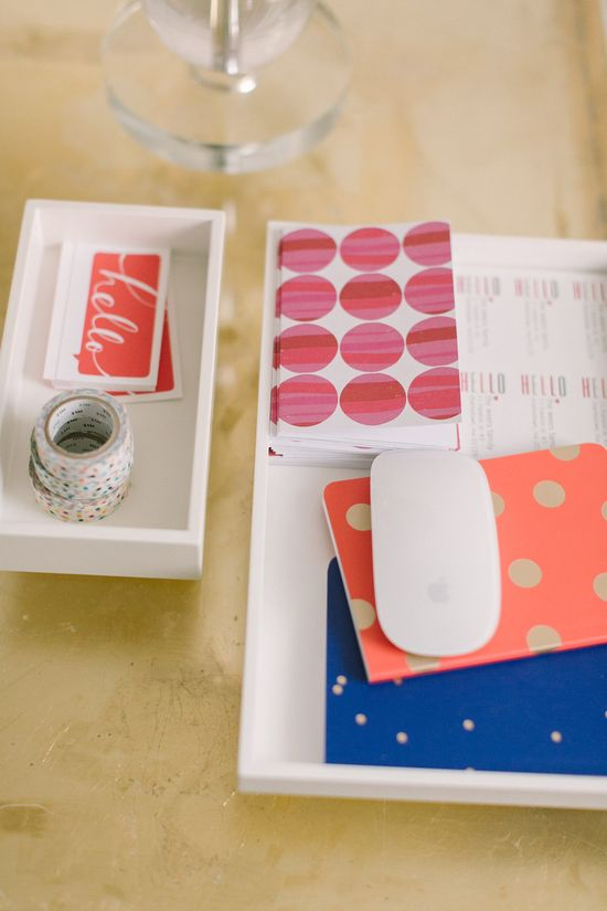 Pretty pink #office accessories from @Target #polkadots #stationery