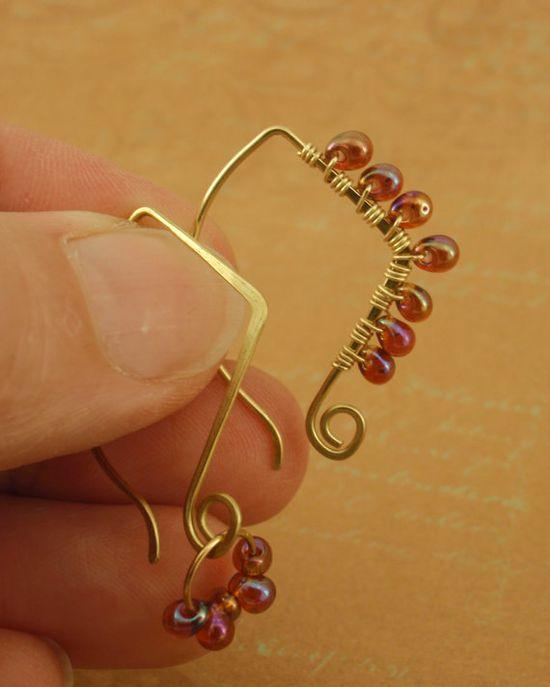 Jewelry Idea - cute ear wires!