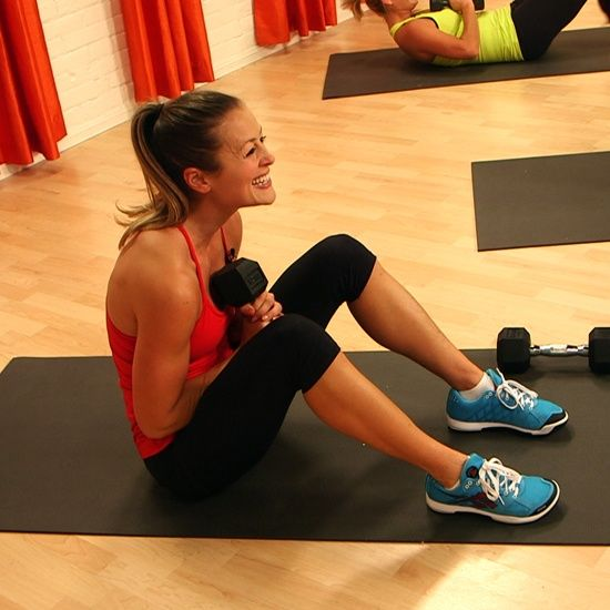 Fast and Fun CrossFit Workout With Weights - 10 minutes long but I am DRIPPING sweat!
