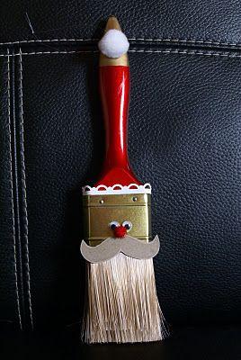Santa Paintbrush Orn