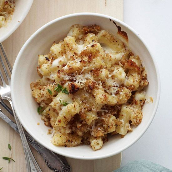 Four different types of cheese make up this delicious baked pasta dish. Get the recipe here: www.bhg.com/...