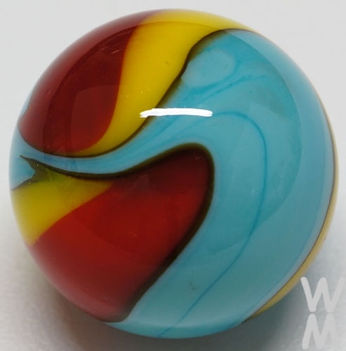 Winlock Marbles Three Color Opaque Handmade Marble