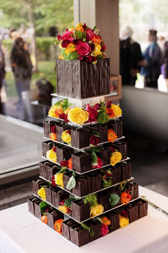 Great idea for a non-traditional wedding cake!