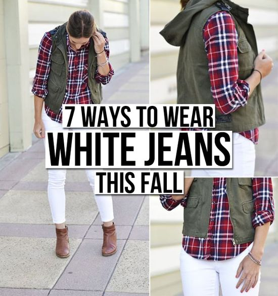 White is in for Fall/Winter 2013: 7 Ways to Wear White Jeans This Fall