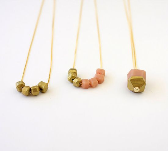 gold dipped color block necklace, a merry mishap