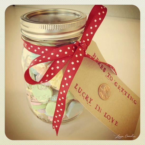 diy valentine {lucky in love jar}