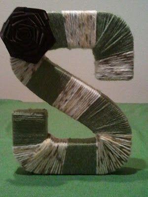 DIY monogrammed yarn wreath :)