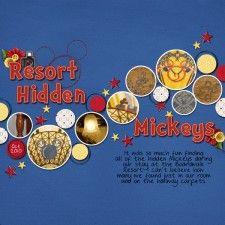 #papercraft #Disney #scrapbook #layout Hidden Mickeys
