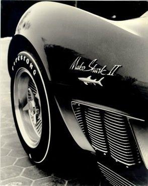 1965 Corvette Mako Shark II XP-830 #car #design #style #cool #black #oldtimer