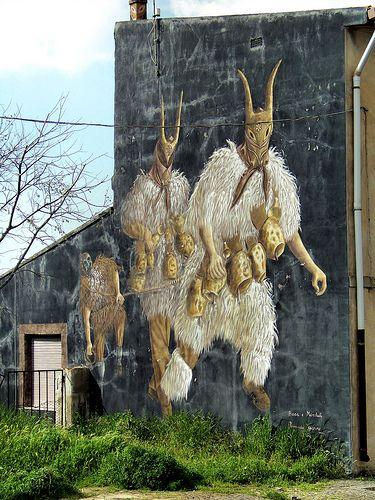 Boes mural, Sardinia.  Street art 000!