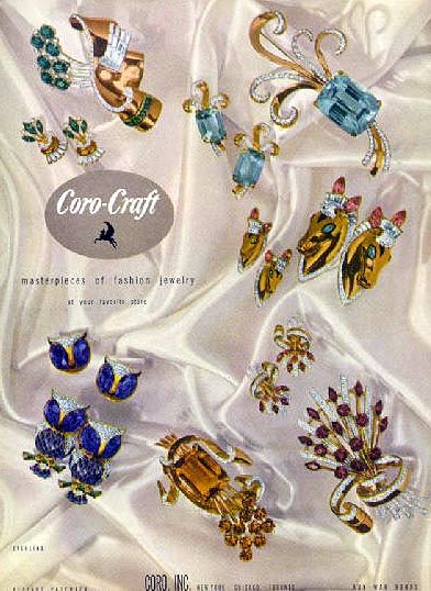 1940 jewelry ad: Coro