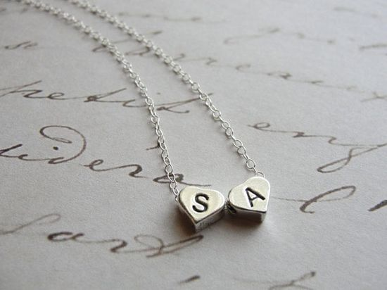 "Tiny Sterling Silver Initial Charm on 16"" Chain; $28 (additional charm $7)"